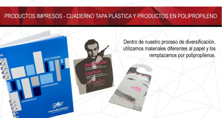 Cuaderno tapa plastica y productos Polipropileno